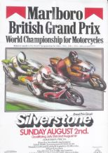 "BRITISH MOTORCYCLE GP 1981 Silverstone Poster 28 x 19"" ( 480 x 705mm)"